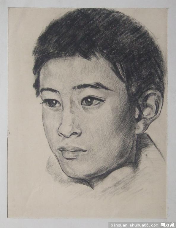 小孩头像48 - 我的素描,人物线描 - 相册 - 刘万泉