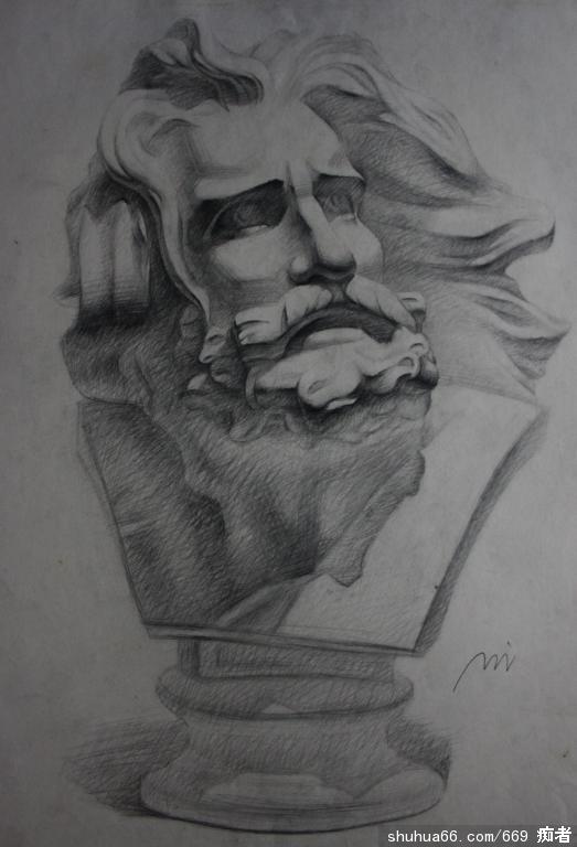 石膏像 马赛jpg - 素描
