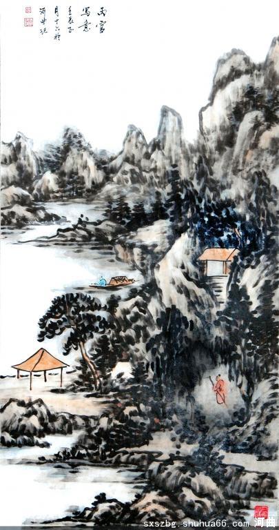 张丙官 河曲 忻州 国画山水 作品 图片