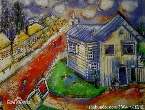 梦幻村庄手绘图片