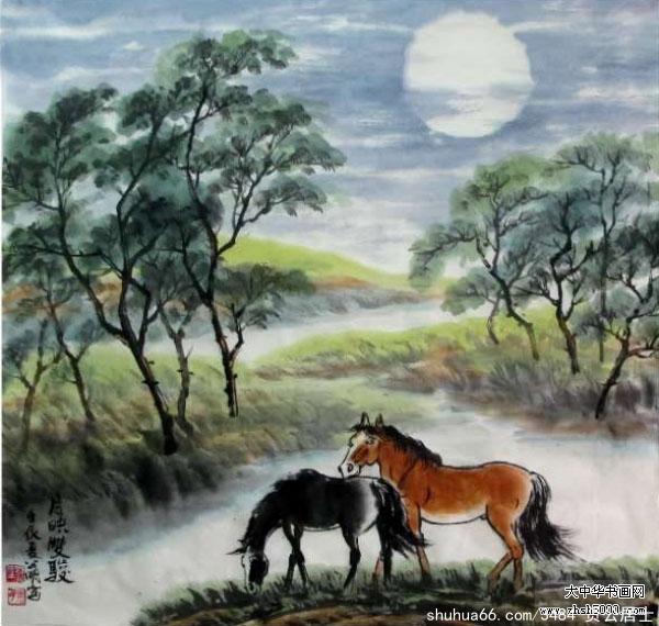 《浴马》(湖南周石峰录) - 周石峰 - 画竹大师周石峰