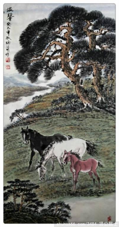 《白马》 - 周石峰 - 画竹大师周石峰