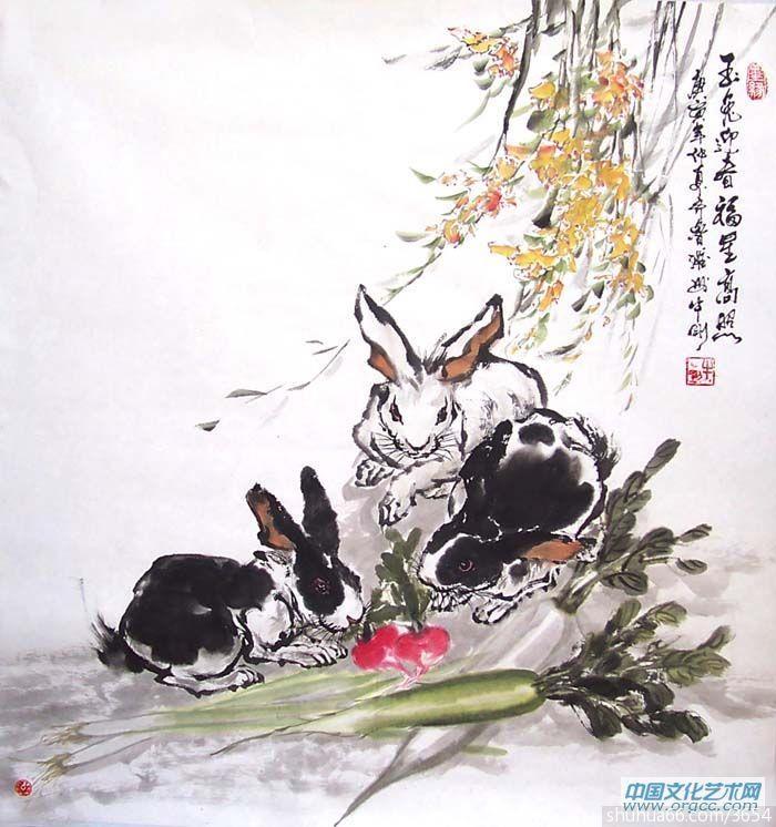十二生肖——兔 - 国画动物 - 相册 - 牛刚 - 书画家园