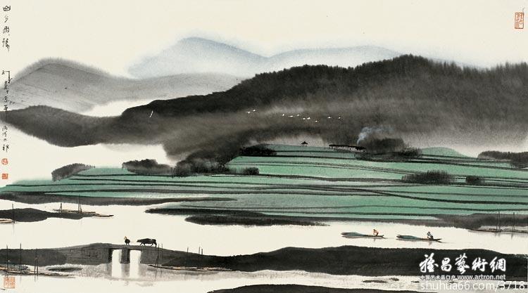 认识杨明义是从见到他的版画作品开始的,他是苏州版画界的带头人,八十年代初,江苏的水印木刻驰名于国内外,南京和苏州是江苏水印木刻的两大地区。杨明义的水印木刻多取材于苏州的水乡景色,他在画面上刻画的人物(特别是江南的农村姑娘)体型修长而秀美,动态轻盈而活跃,表情更具有江南人的特有气质。但更擅长的却是表现水乡的自然风景,木版水印在纸上的晕染效果和特有韵味,呈现出与油印木刻迥然不同的艺术视觉效果。在杨明义的画面中发挥得淋漓尽致。他的水印木刻多次在国内外的艺术展览会上获奖是理所当然的,除了水印木刻以外,杨明义后