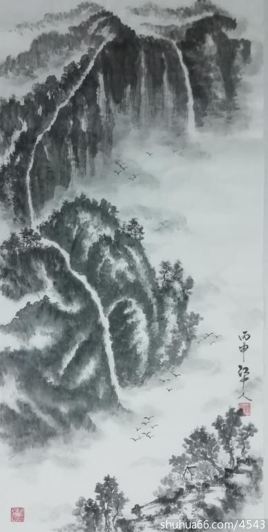 江中人山水画